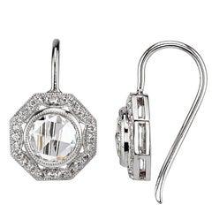 Romantic Rose Cut Diamond Drop Earrings