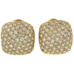 Stunning Gold and Diamond Earrings