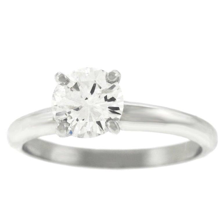 1.11 Carat Diamond Engagement Ring in Platinum GIA For Sale
