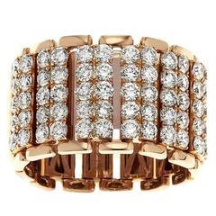 Flexible Micro Pave Diamond Ring