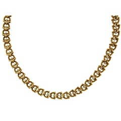 Pearl Gold Link Necklace