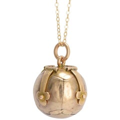 Antique Victorian Gold Masonic Orb Pendant
