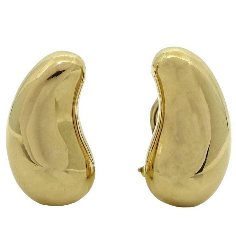 "Tiffany & Co. Elsa Peretti ""Bean"" Clip-On Earrings For Sale"