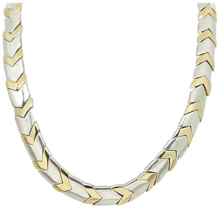 Tiffany & Co. Chevron Collar Two-Toned Necklace