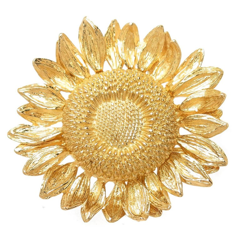 Asprey london yellow gold sun flower brooch at 1stdibs asprey london yellow gold sun flower brooch for sale mightylinksfo