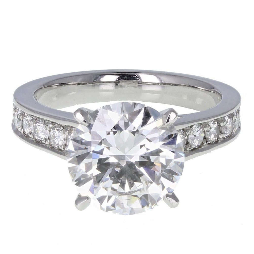 GIA Certified 3.11 Carat F VVS1 Brilliant Cut Diamond Solitaire Engagement Ring