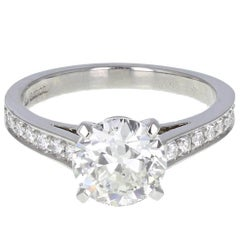 HRD Certificated 1.50 Carat Brilliant Cut Diamond Solitaire Engagement Ring