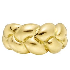 Van Cleef & Arpels Yellow Gold Braided Band Ring
