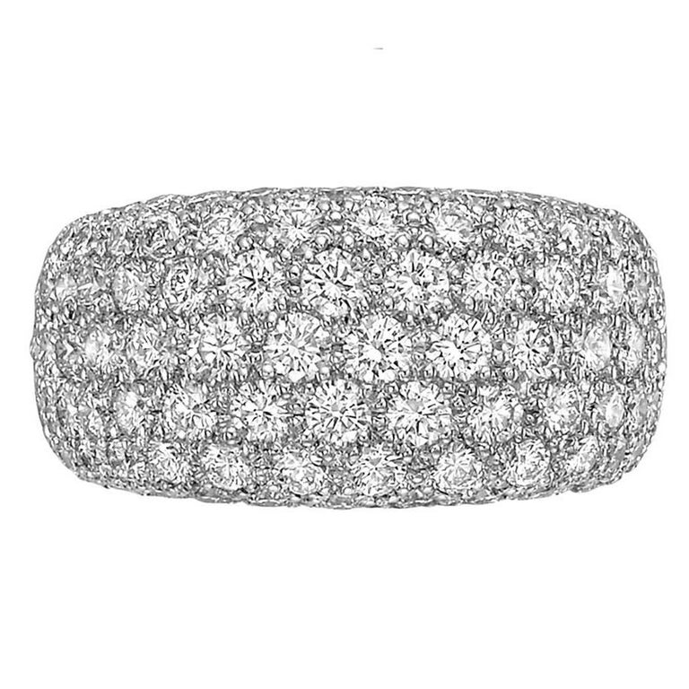 Cartier Diamond Domed Eternity Band Ring
