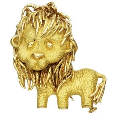 Bulgari Yellow Gold Lion Pin
