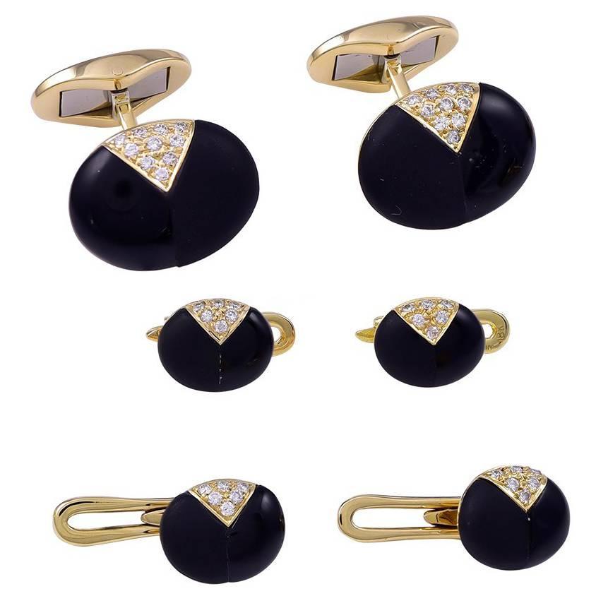 Tiffany & Co. Onyx Diamond Men's Dress Set