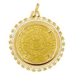 "18 Karat Yellow Gold ""1 Milione Di Auguri"" Pendant"