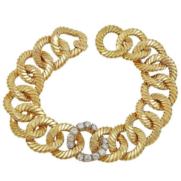 Van Cleef & Arpels Diamond Link Bracelet
