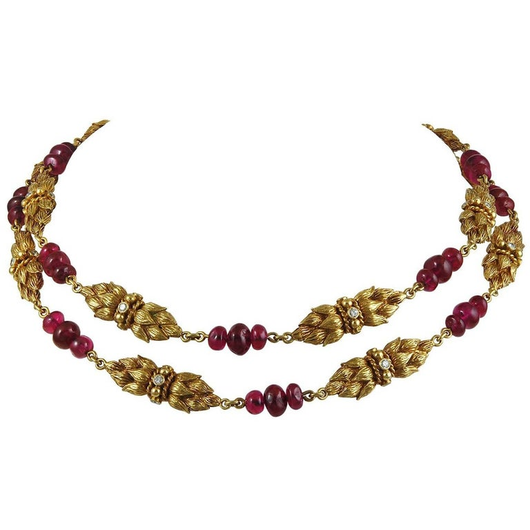 Van Cleef & Arpels Diamond and Ruby Necklace