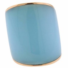 Vhernier Camuration Turquoise Chalcedony Gold Ring