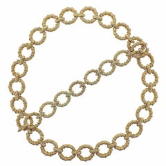 1970s Oval Link Gold Necklace Bracelet Suite