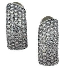 Cartier Lakarda Diamond Hoop Earrings