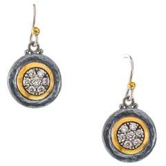 """Gurhan """"Moonstruck"""" Diamond Button Earrings"""