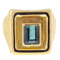 Burle Marx Green Tourmaline Ring