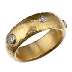 """Gurhan """"Constellation"""" Diamond Stacking Band in 24 Karat Yellow Gold"""
