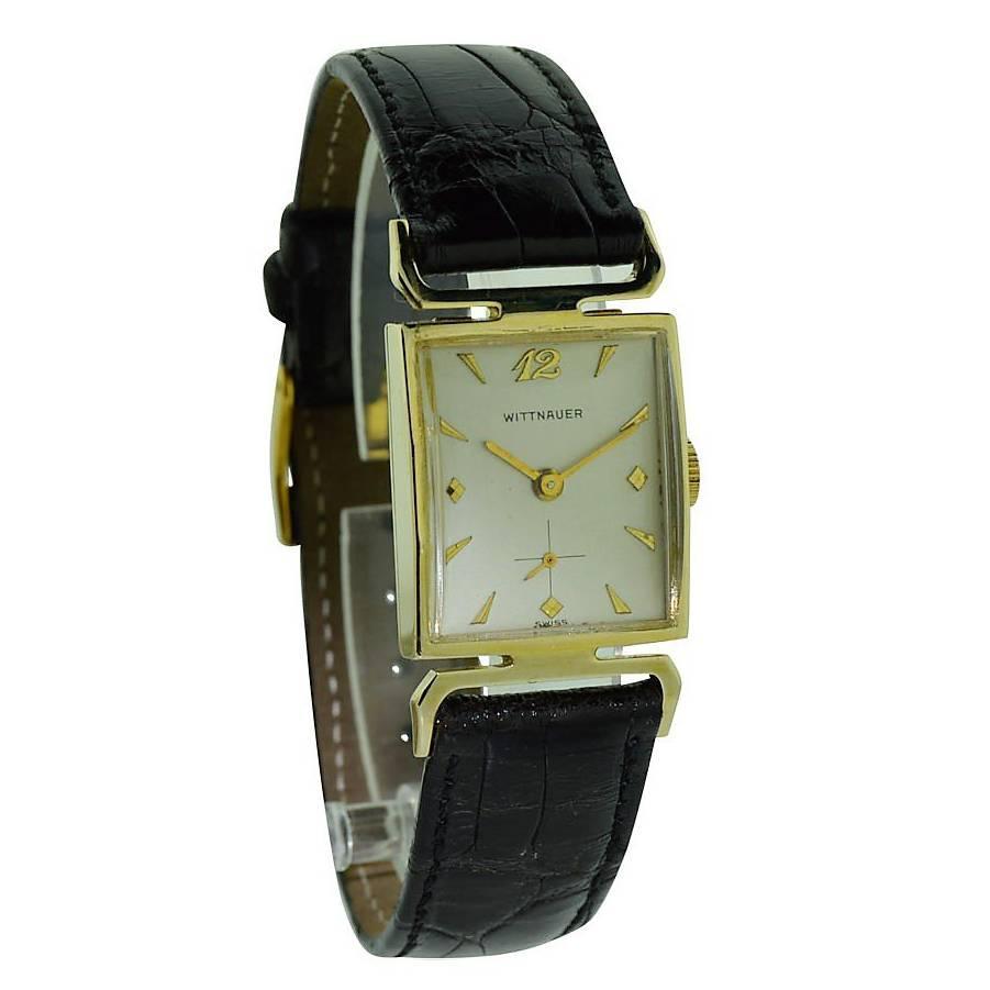 Wittnauer Yellow Gold Manual Watch, circa 1950s
