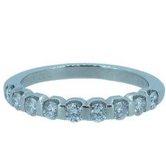 Diamond Half Eternity Ring, 0.50 carat, Platinum Band, Pre-Owned