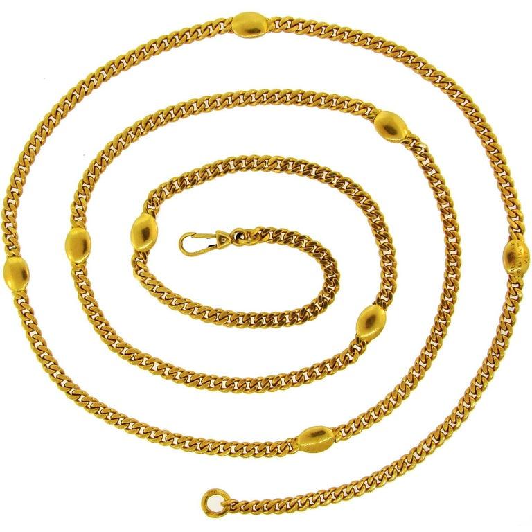 1970s Bulgari Yellow Gold Chain Necklace