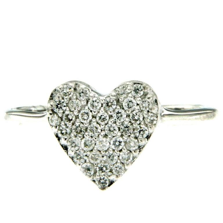 Diamond Heart Gold Ring