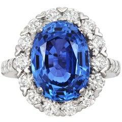 Tivon Fine Jewelry Heirloom Platinum Diamond and Sapphire Ring