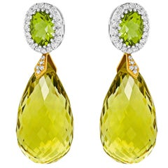 Tivon Fine Jewelry Cocktail Monte Carlo Earrings with Diamonds and Gems
