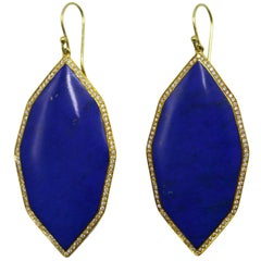 Ippolita Lapis Lazuli and Diamond Pendant Earrings