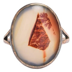 Antique Edwardian Blood Agate Ring