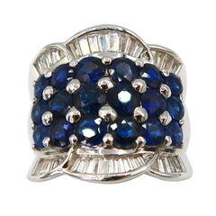 BOON Blue Sapphire Diamond Yellow Gold Ring