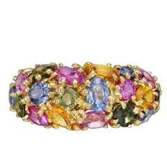 Chaumet Multicolored Sapphire Band Ring