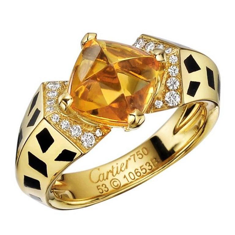 """Cartier Citrine Diamond """"Panthère"""" Ring"""