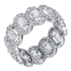 18 Karat White Gold Eternity Band That Features 2.92 Carat of Diamond Weight