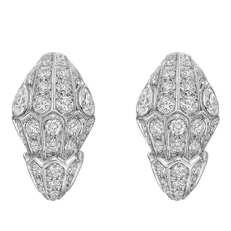 "Bulgari Pavé Diamond ""Serpenti"" Earrings"