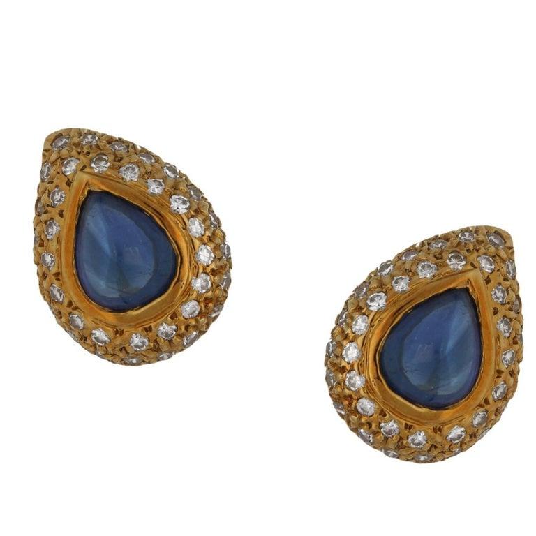 Tiffany & Co. Sapphire Diamond Stud Earrings