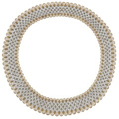 Exquisite Buccellati Diamond Gold Necklace
