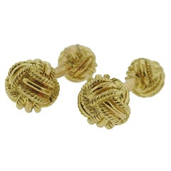 Tiffany & Co. Woven Knot Gold Cufflinks