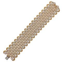Important Buccellati Diamond Gold Bracelet
