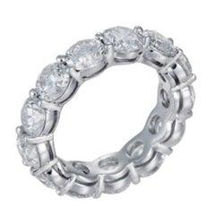 Beautiful Platinum Eternity Band Features 9.30 Carat of 13 Round Diamonds