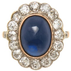Russian Diamond and Sapphire Gold Ring, 1920