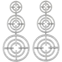 Akillis Licence to Akillis Pendant Earrings 18 Karat White Gold White Diamonds