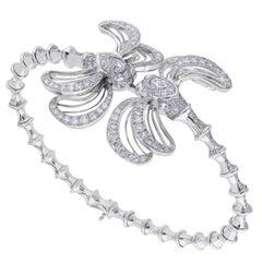Lalique Libellule Diamond and White Gold Bracelet