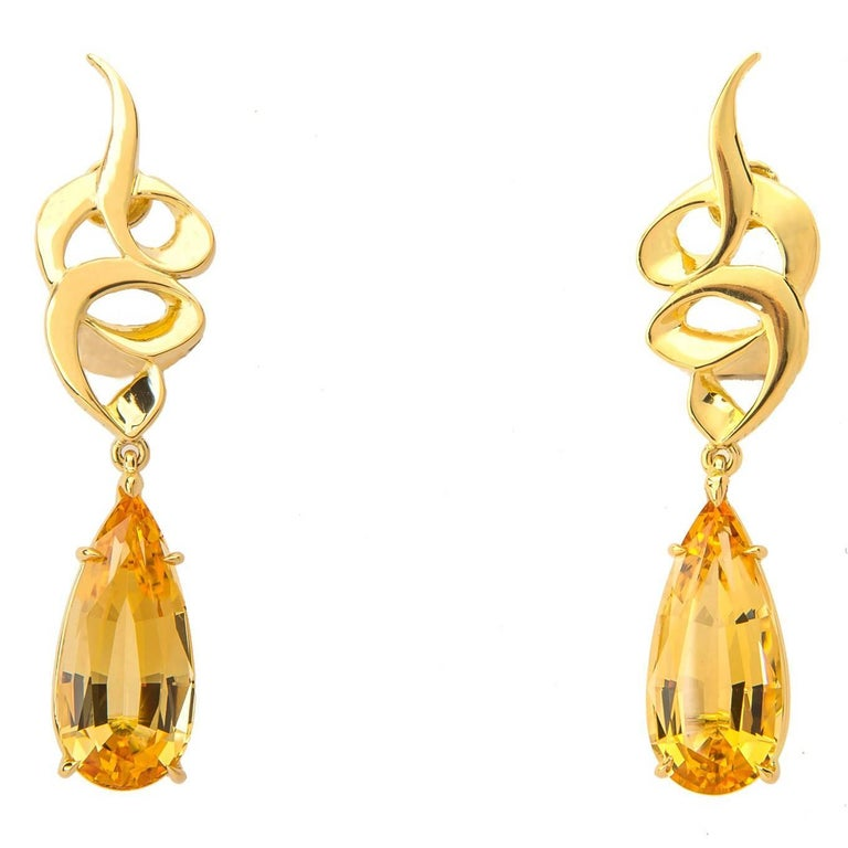 Paloma Picasso for Tiffany & Co. Precious Topaz Earrings For Sale