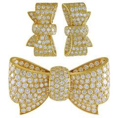 Van Cleef & Arpels Diamond Bow Brooch Suite
