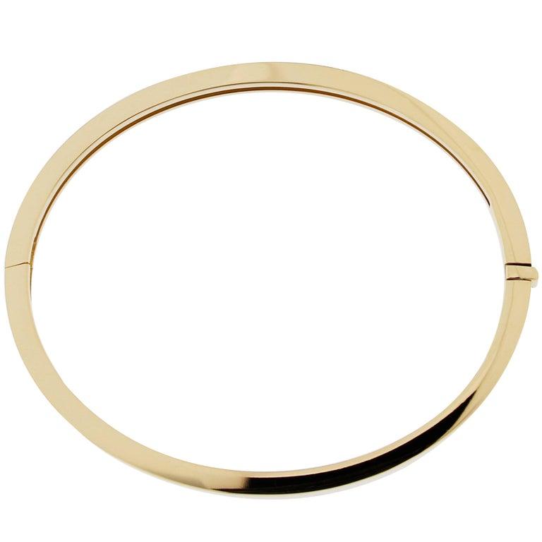 Jona Yellow Gold Bangle Bracelet