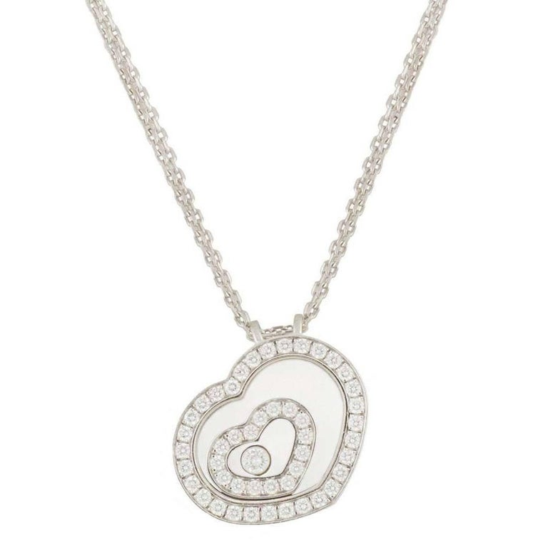 Chopard Happy Spirit Diamond Pendant For Sale