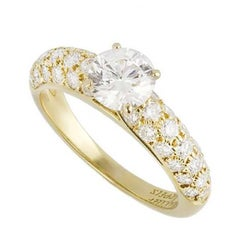 Van Cleef & Arpels Yellow Gold Round Brilliant Cut Diamond Ring